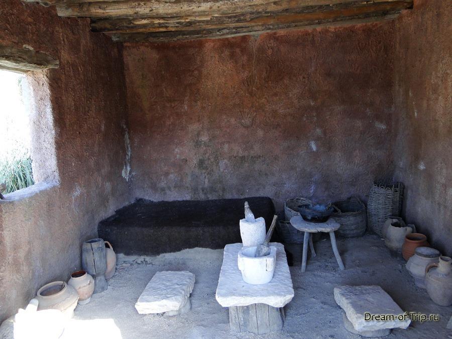 Музей HOMO SAPIENS на Крите. Почти современное жилье.