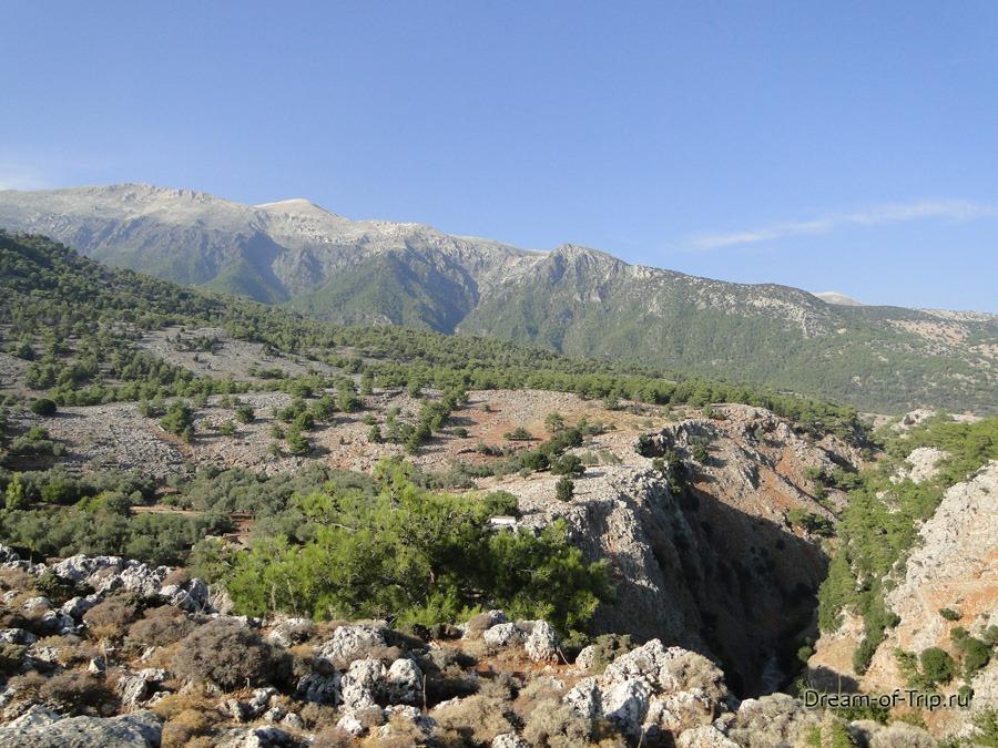 Дорога к ущелью Арадена.