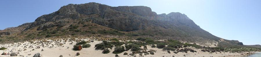 Бухта Балос. Панорама с острова.