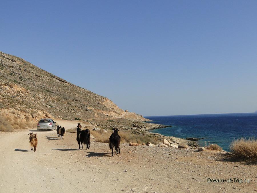 Дорога на Балос на острове Крит.