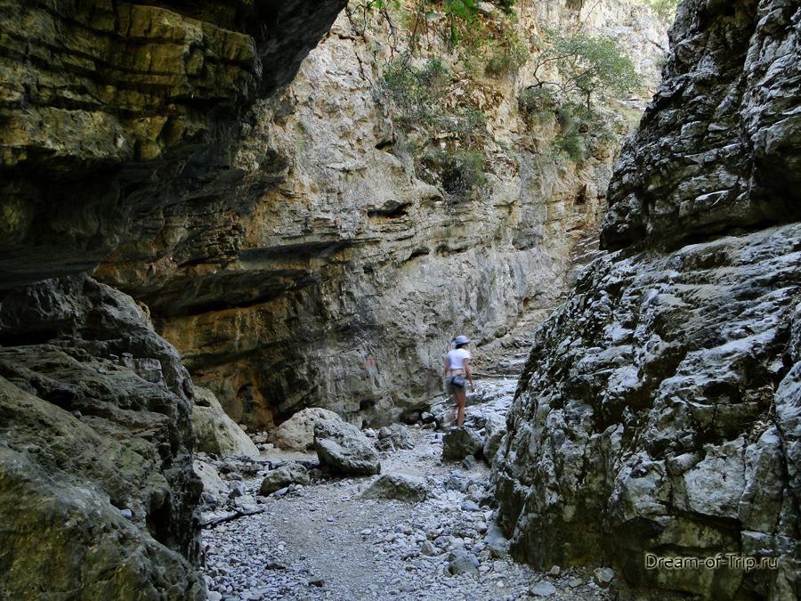 Я в Ущелье Имброс на Крите.