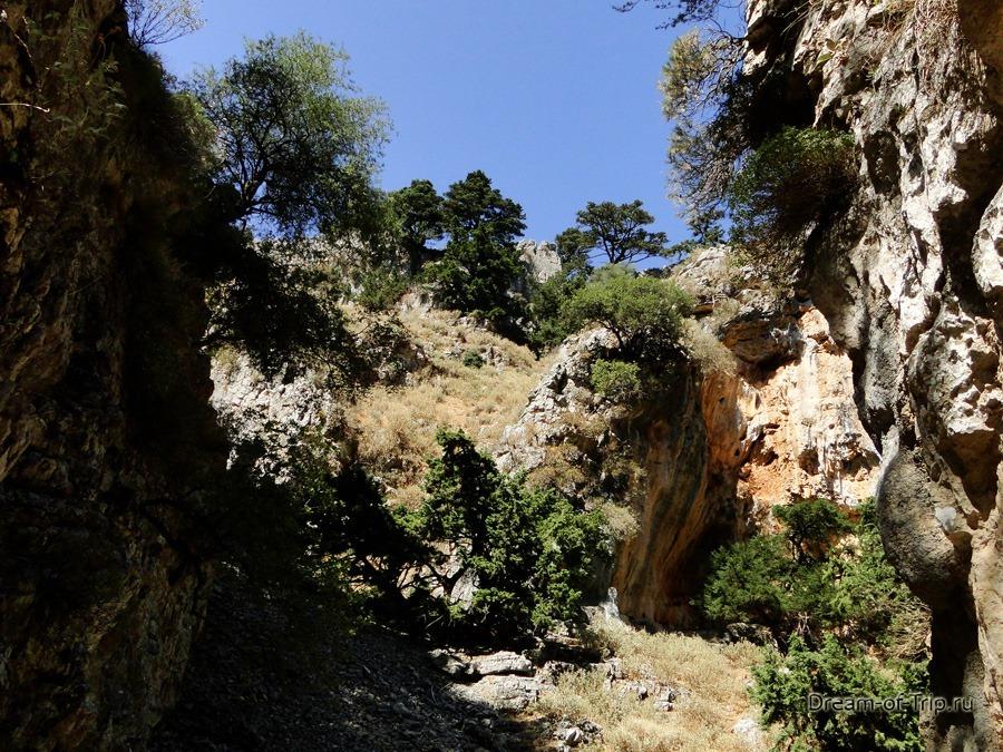 Ущелье Имброс на острове Крит. Пейзажи.
