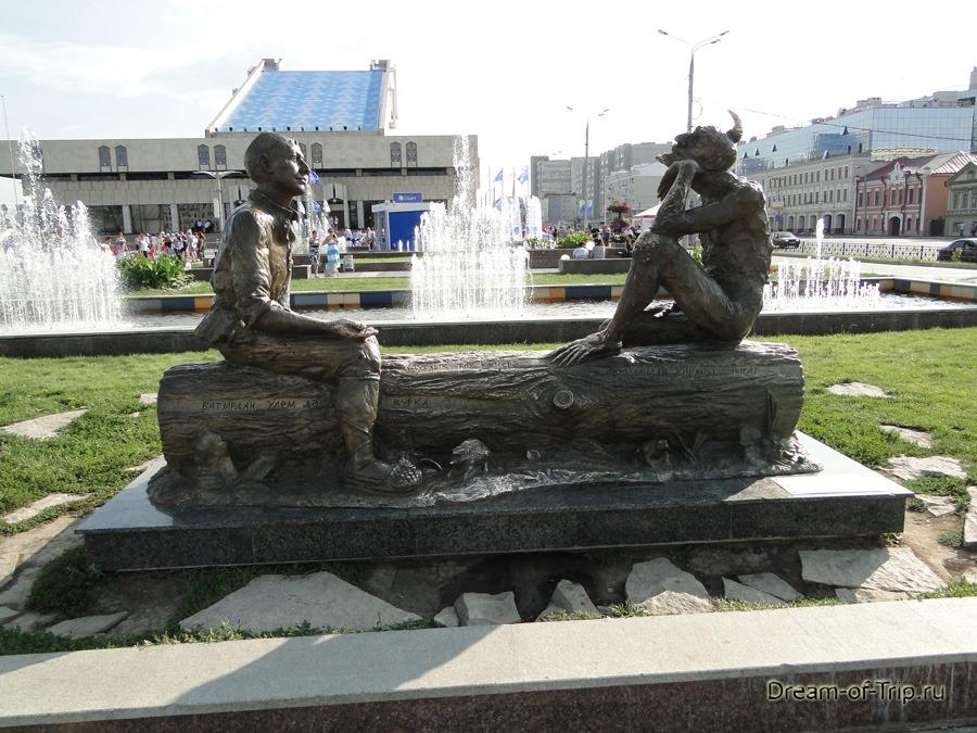 Казань.  Герои татарских сказок.