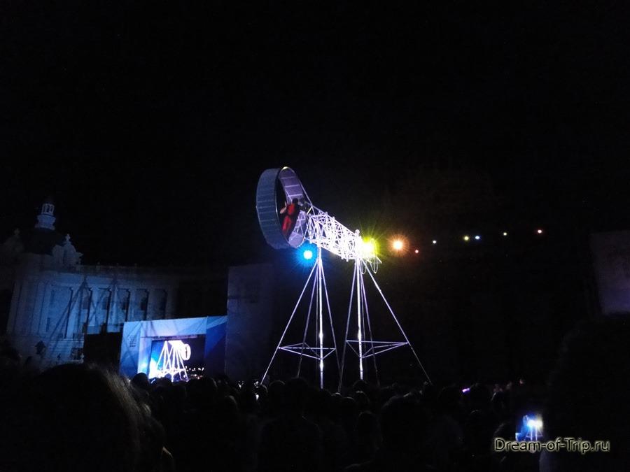 Цирк Дю Солей. Колесо смерти.