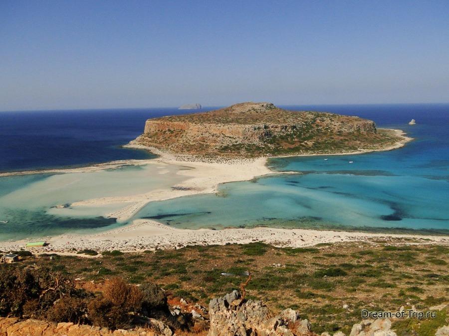 Лагуна Балос на острове Крит.