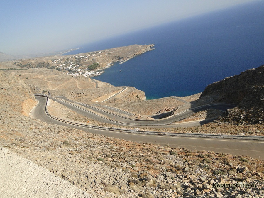 Остров Крит. Серпантины.