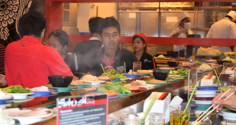 Японский ресторан Шабуши. Лента для супа.