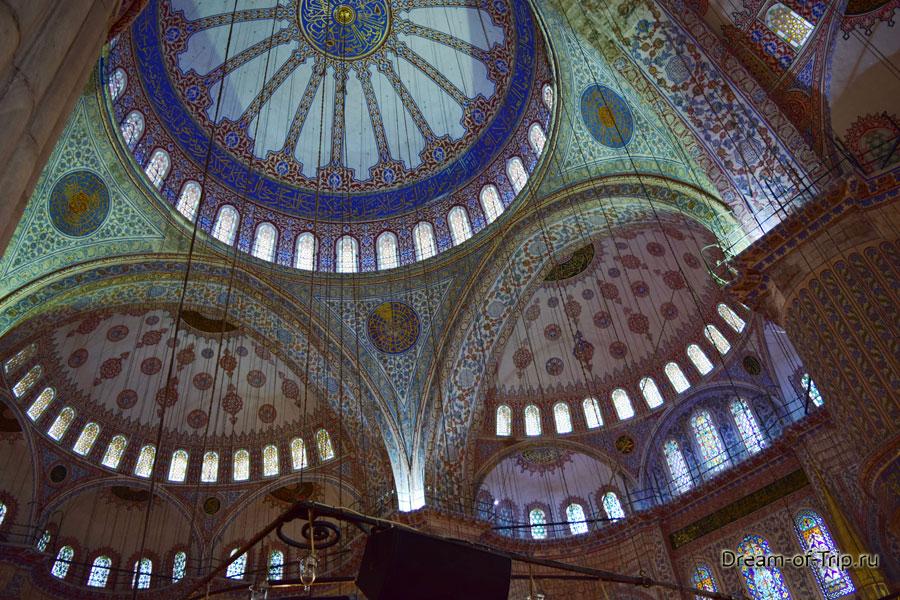 Потолки в Голубой мечети