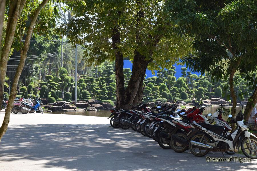 Парк бонсаев и озеро