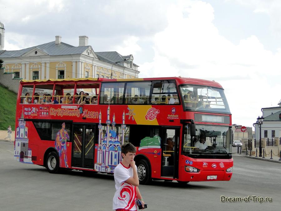Двухэтажный экскурсионный автобус в казани