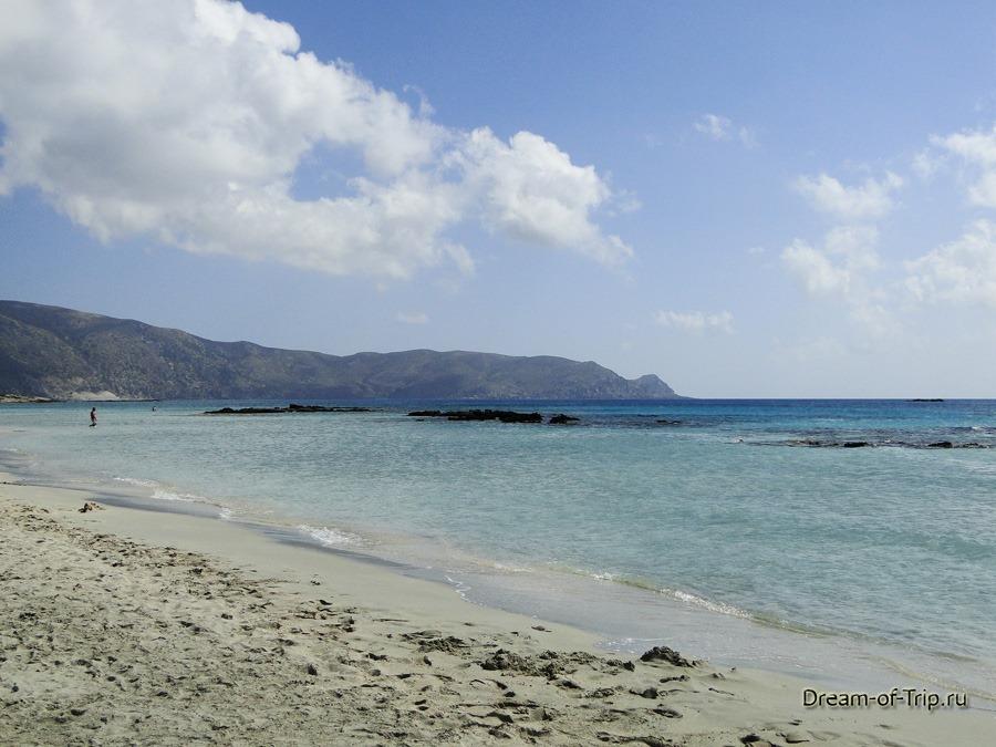 Пляж Элафониси. Море.