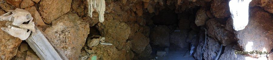 Музей HOMO SAPIENS на Крите. Панорама пещеры.
