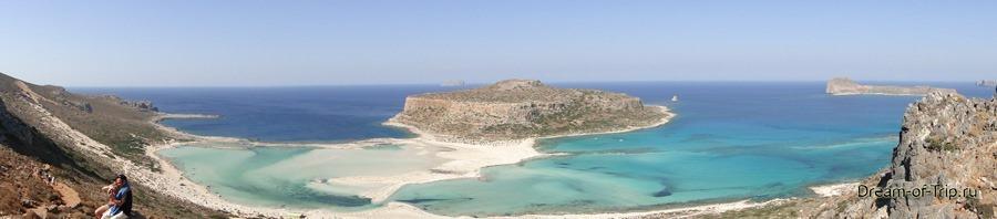 Бухта Балос. Панорама.