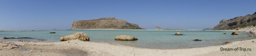 Бухта Балос. Панорама с берега.