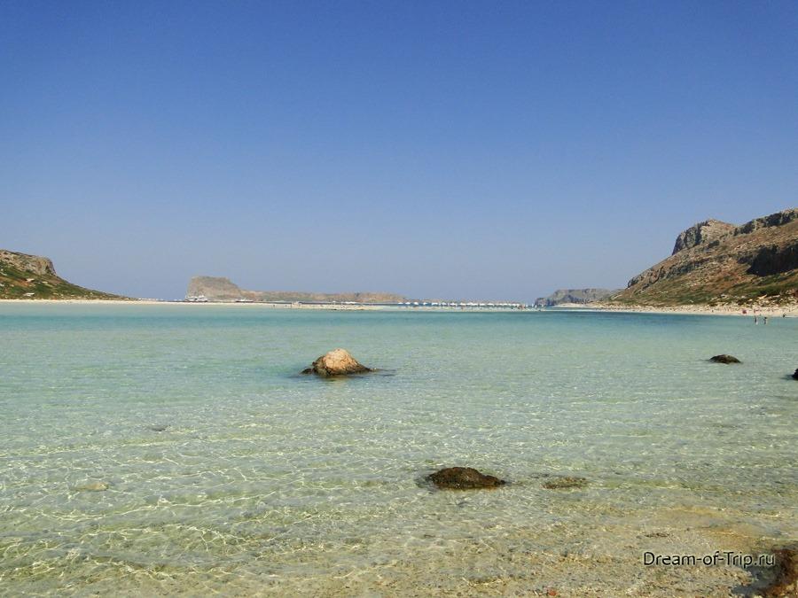 Лагуна Балос на острове Крит. Слияние трех морей.