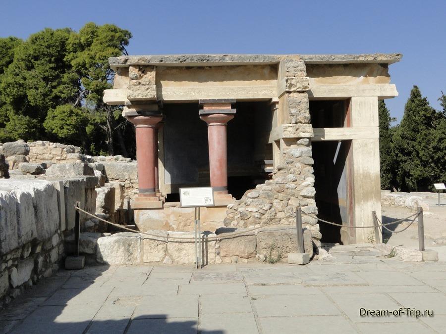 Кносский Дворец на острове Крит. Фото.