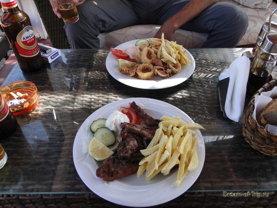 Еда на Крите. Порции.