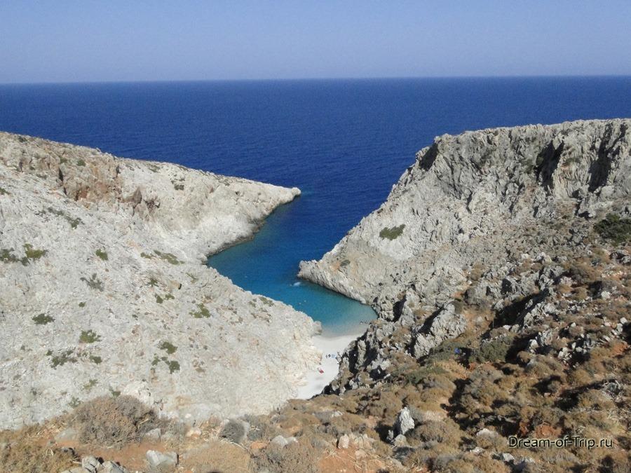 Пляж Чертова Гавань на острове Крит.