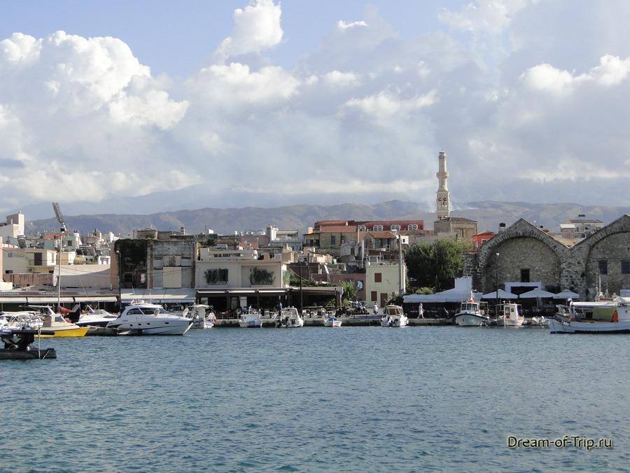 Город Ханья на острове Крит. Порт.