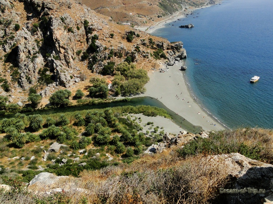 Пальмовый Пляж Превели на Крите.