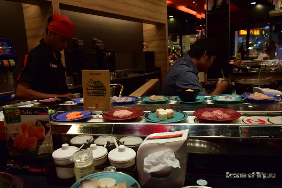 Японский ресторан Шабуши в Паттайе. Продукты.