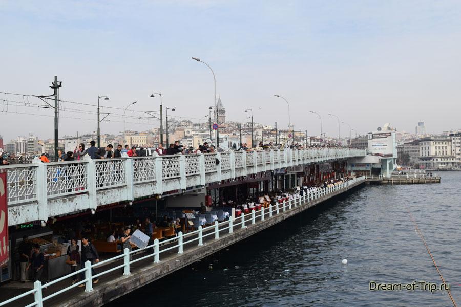 Два уровня Галатского моста