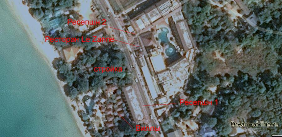 Схема отеля Ко Чанг Кача